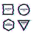 set of abstract minimal template design in vector image