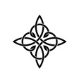 Celtic knots elegant cross weaven tattoo template vector image