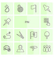 14 pin icons vector image vector image