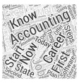 Accounting Accountancy Career Steps to Success vector image vector image