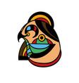 art tattoo picture eagle head vector image