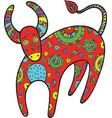 art with cartoon cow vector image
