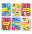 astrology thin line brochure cards set colorfu vector image