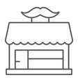 barber shop thin line icon hairdressing and house vector image