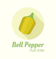 bell pepper isolated flat style round icon vector image vector image