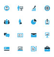 business colorful icons set collection of manager vector image vector image