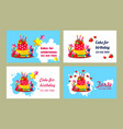 cake business card vector image vector image