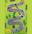 car racing board game vector image vector image