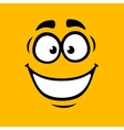 cartoon smile on orange background vector image vector image