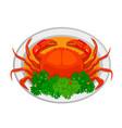 chili crab vector image vector image