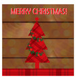 christmas greeting card with christmas tree on the vector image vector image