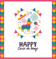 cinco de mayo hand drawn pinata greeting card vector image vector image