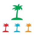Coconut palm tree sign vector image
