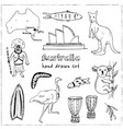 collection australia doodle vector image