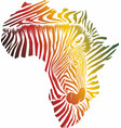color map africa made zebra head and skin vector image vector image