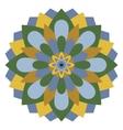 Colored mandala or circular pattern vector image