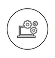 computer operation icon line vector image