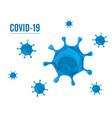 coronavirus covid19 19 isolated on white vector image