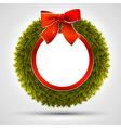 decorative Christmas wreath vector image vector image