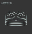 dessert icon line element of vector image