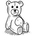 doodle teddy bear vector image