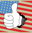 flag hand vector image vector image