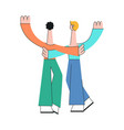 friendship and attachment in relationships concept vector image