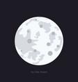 full moon in night moon vector image