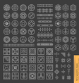 geometric monochrome shapes vector image