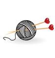 Heart wool knitting needle isolates hobby