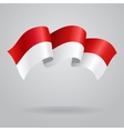 Indonesian waving Flag vector image vector image