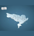 isometric 3d england map concept vector image vector image