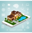 isometric smart home vector image