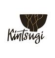 kintsugi - lettering word flat stock vector image vector image