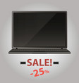 laptop sale vector image vector image