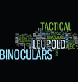 leupold scope tactical binoculars your best vector image vector image