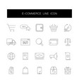 line icons set e-commerce pack vector image vector image