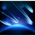 Make a wish on this shooting stars EPS 10 vector image vector image