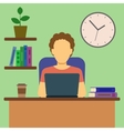 Man Working At Home Concept vector image