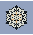 Mandala on light blue gray background Vintage vector image