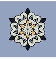 Mandala on light blue gray background Vintage