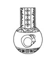 masonic vial with a dragon emblem icon logo vector image vector image