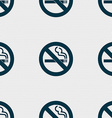 no smoking icon sign Seamless pattern with vector image