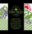 organic handwritten font farm fresh vector image