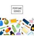 perfume bottles background vector image vector image