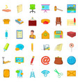 postal service icons set cartoon style vector image vector image