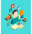 Reading Concept Isometric vector image vector image