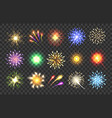 realistic fireworks vector image vector image
