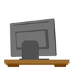 rear view of computer monitor vector image