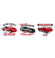 retro car service logo vector image vector image